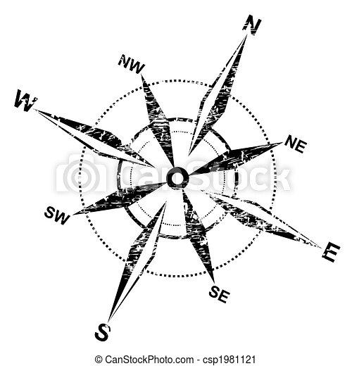 affligé, rose, compas - csp1981121
