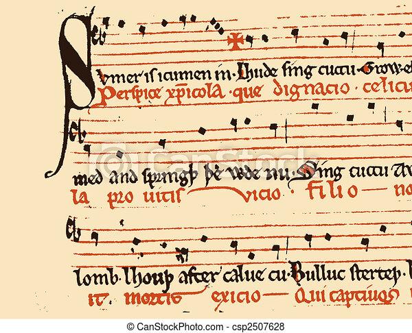 afflitto, musica, struttura - csp2507628