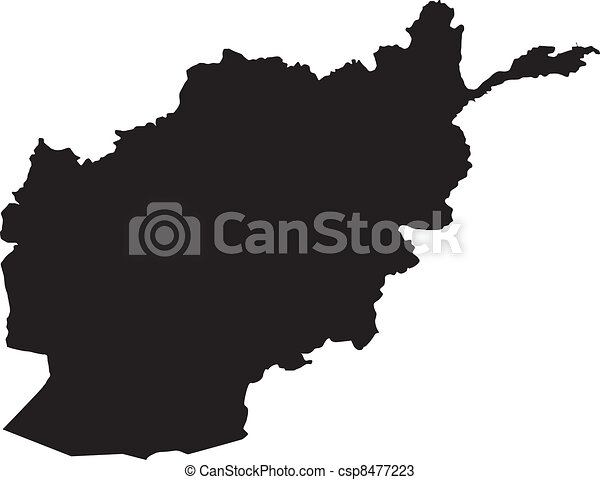 afganisztán, vektor, ábra, térkép - csp8477223