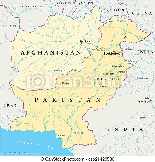 Afghanistan and Pakistan Political  - csp21420536