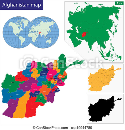 Karte Afghanistan Provinzen.Afghanistan Landkarte