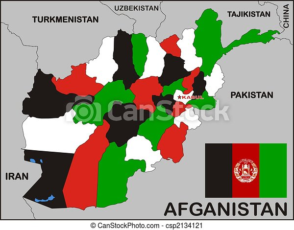 Clipart Of Afghanistan Political Map Political Map Of - Political map of afghanistan