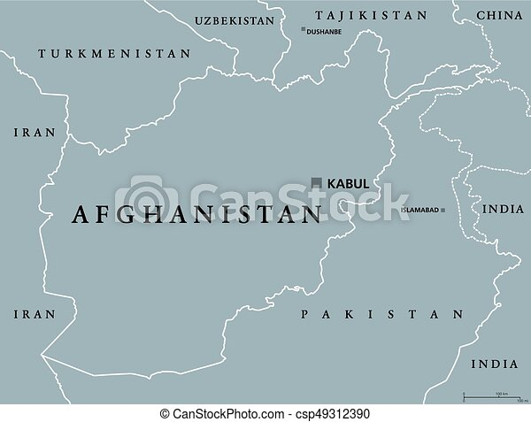 Afghanistan political map - csp49312390