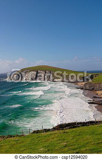 afgronden, dingle, schiereiland, ierland - csp12594020
