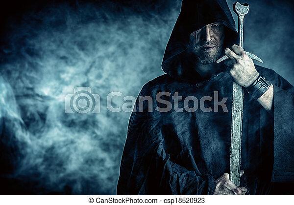 afiado, espada - csp18520923