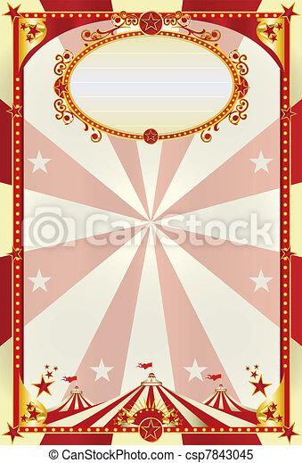 afisz, górny, śmietanka, czerwony, cielna - csp7843045