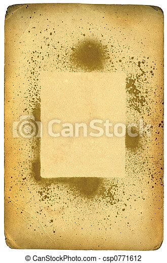 af)knippen, grunge, leeftijd, textuur, (inc, papier, oud, path) - csp0771612