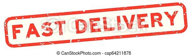 aflevering, plein, woord, postzegel, vasten, rubber, achtergrond, zeehondje, grunge, wit rood - csp64211878
