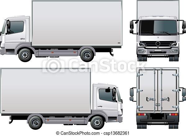 aflevering, vracht vrachtwagen, / - csp13682361