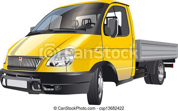 aflevering, vracht vrachtwagen, / - csp13682422