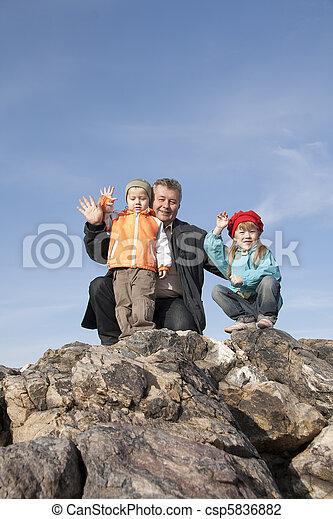aflição, ter, autumn., descanso, família - csp5836882