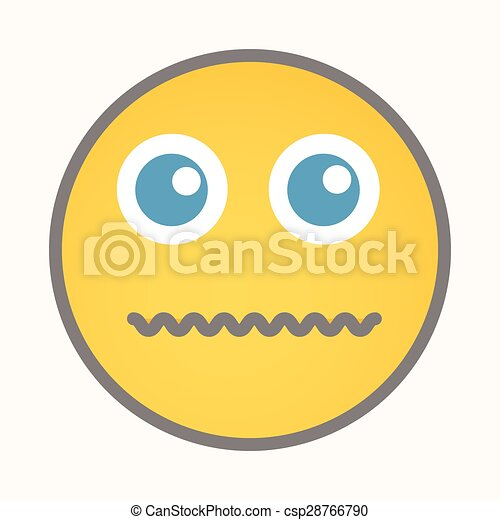 Afraid cartoon smiley vector face