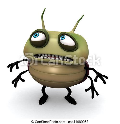 afraid green bug - csp11089987