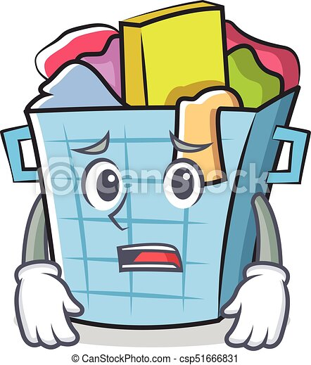 afraid laundry basket character cartoon vector illustration vectors rh canstockphoto com laundry basket clipart black and white