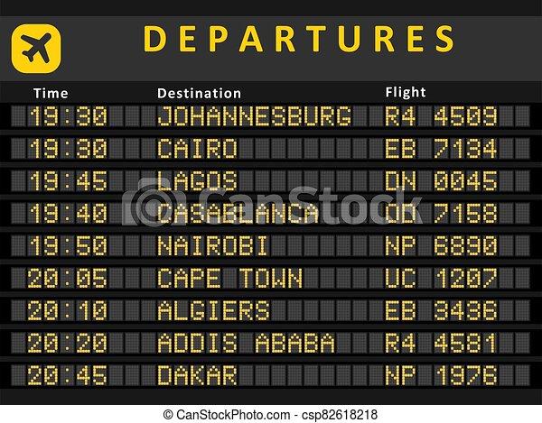 Africa airports - csp82618218