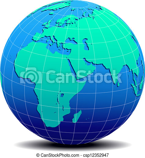 Africa arabia india global world vector map icon of the world in africa arabia india global world csp12352947 gumiabroncs Gallery