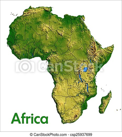 Africa continent map aerial view eps vectors Search Clip Art