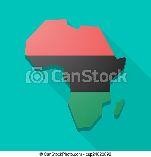 Africa continent map icon with a  - csp24020892