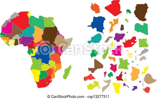 Africa continent puzzle - csp13277311