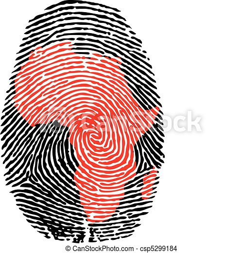 africa-fingerprint - csp5299184