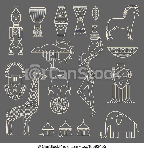 Africa icons - csp18593455