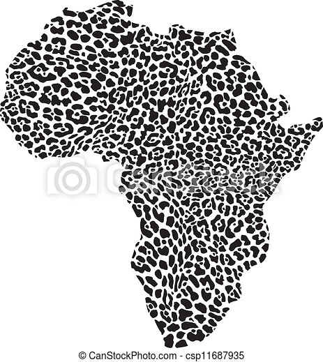 Africa in a leopard camouflage - csp11687935