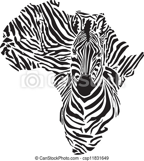 Africa in a zebra camouflage - csp11831649