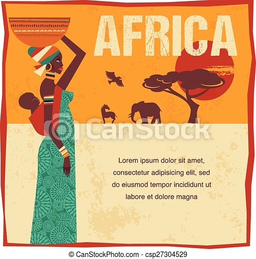Africa - infographics and background - csp27304529