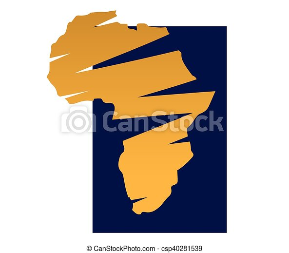 Africa map design Drawing map design for africa ai 10 vectors