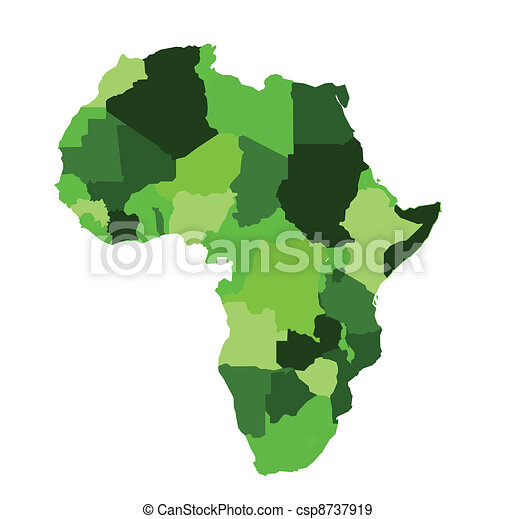 africa map eps free