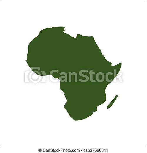 Africa Map Silhouette Vector.Africa Map
