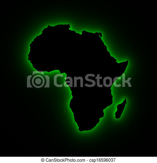 Africa map in green light. High resolution map of africa. the