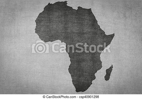 Africa Map Background.Africa Map On Vintage Textured Background Continent Silhouette