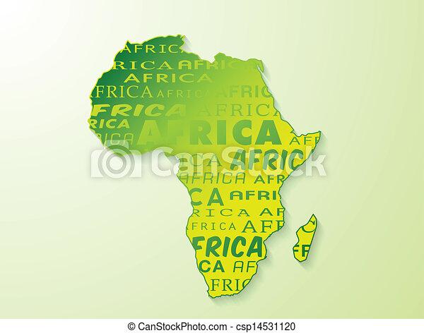 Africa map presentation - csp14531120