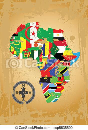 Africa map - csp5635590