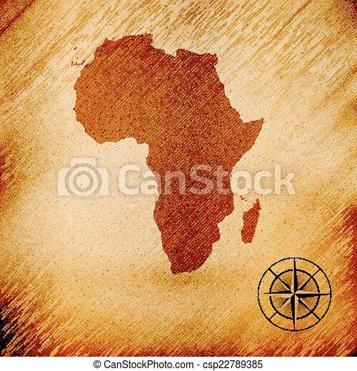 Africa Map Background.Africa Map Wooden Design Background Vector Illustration