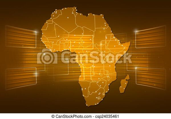 Africa map world map news communication gold yellow africa stock africa map world map news communication gold yellow csp24035461 gumiabroncs Choice Image