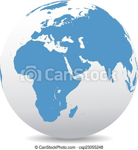 Africa, Middle East, Arabia, India - csp23055248