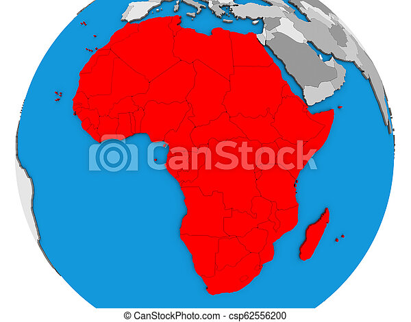 Africa on 3D map - csp62556200