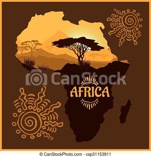 Africa - poster. - csp31153911