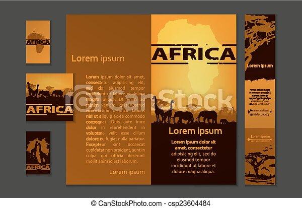 Africa travel design template - csp23604484
