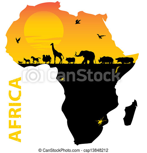 vector map of africa vector clip art search illustration drawings rh canstockphoto com african victory chant african victoria's secret models