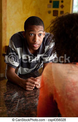 african-american, 若い, 驚かされる, 人 - csp4356028