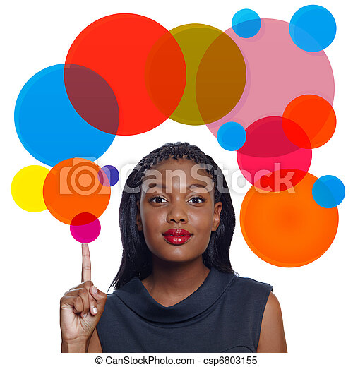 African American business woman - csp6803155