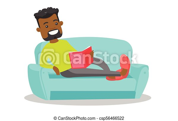 Prime African American College Student Reading A Book Machost Co Dining Chair Design Ideas Machostcouk