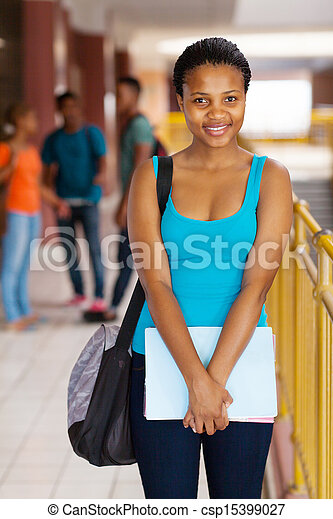 african american college woman - csp15399027