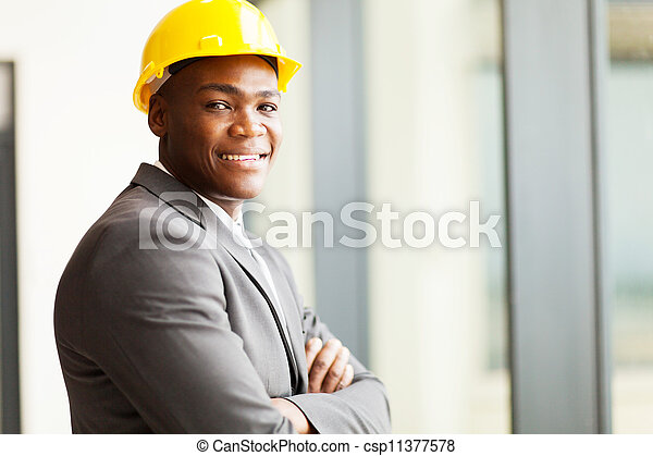 african american construction manager - csp11377578