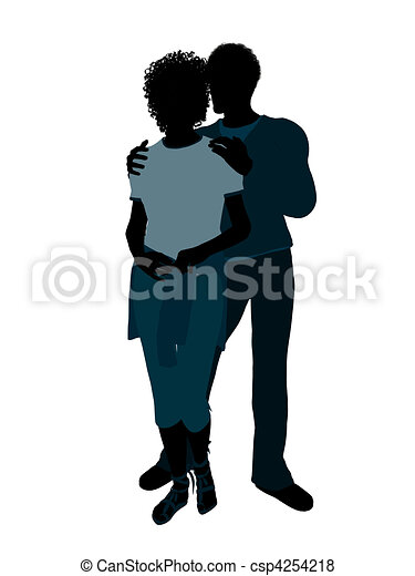 african american couple illustration silhouette african american