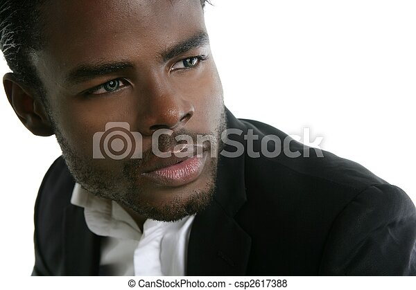 African american cute black young man portrait - csp2617388
