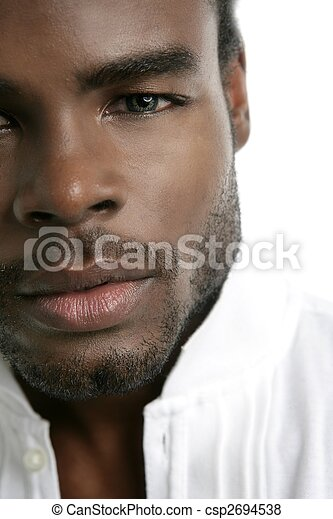 African american cute black young man portrait - csp2694538
